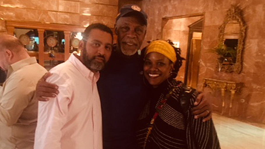 Miguel Pereira AfroUruguayan leader with Danny Glover and Yvette-Modestin