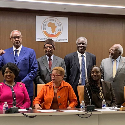IBW21/NAARC collaborated with the Constituency for Africa (CFA), under the leadership of Mel Foote, to convene a Ron Brown Forum on Engaging Africa in the Global Reparations Movement, September 10th at the African Union Headquarters, Washington, D.C.