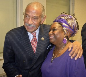 Congressman John Conyers and Attny. Nkechi Taifa during the 2015 IBW21/NAARC Tribute to Congressman John Conyers.