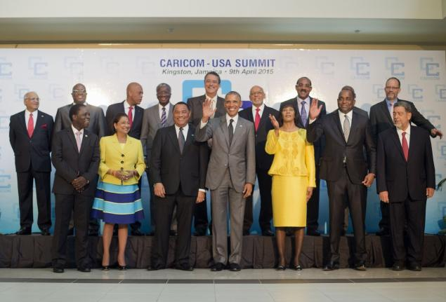 CARICOM leaders connect with President Obama