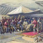 Viceroy Lord Canning meets Maharaja Ranbir Singh of Jammu & Kashmir, 9 March 1860.