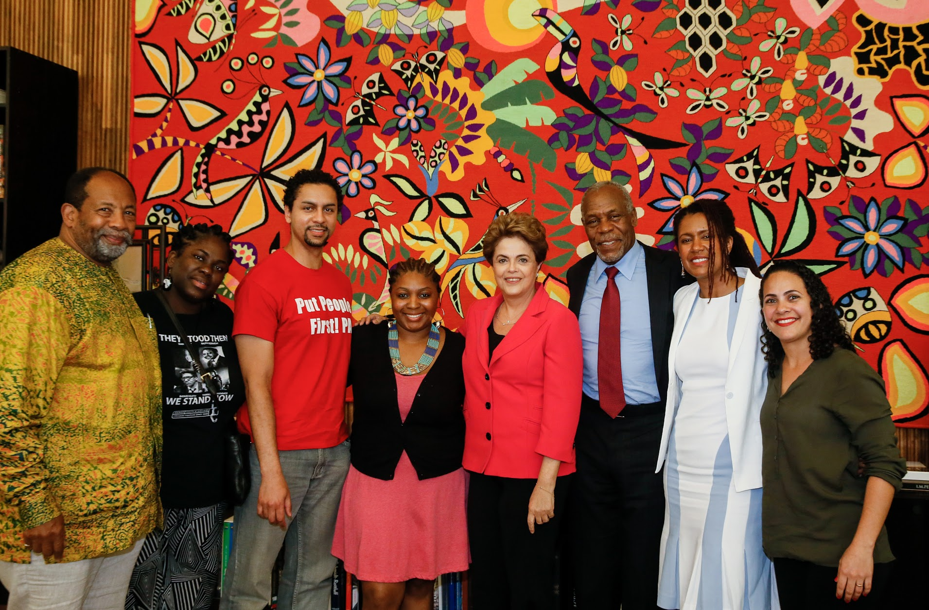 06/20/2016. Presidenta Dilma Rousseff durante Actor Danny Glover, Dr. Eliane Cavalleiro and others,