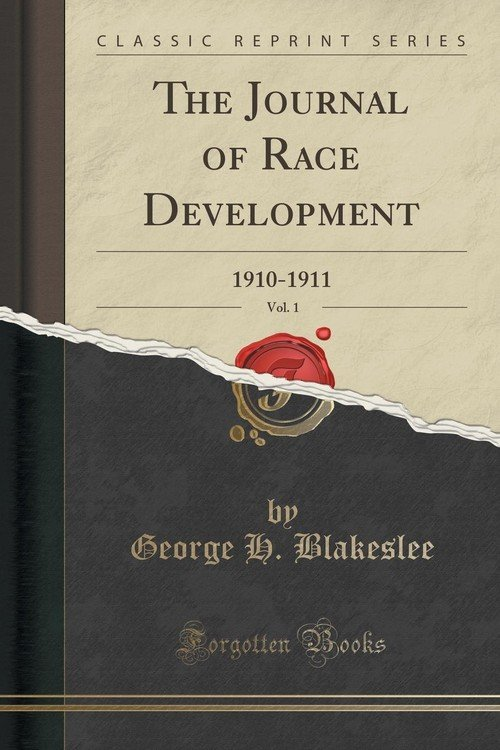 The Journal of Race Development - by George Blakeslee
