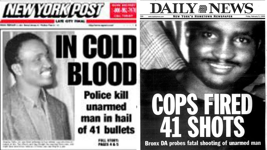 Amadou Diallo Police Killing, 41 Shots, New York
