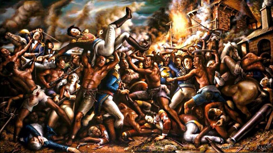 Painting: Boukman Dutty The Enslaved Behind the Armed Revolts and Marronage