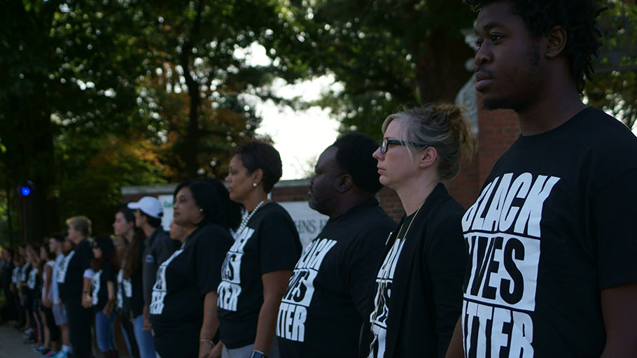 In 2016, Hopkins students and community members participated in a Black Lives Matter demonstration.