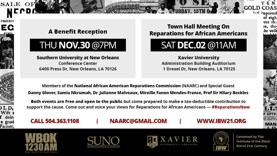 National African American Reparations Commission Meets in New Orleans, November 30-December 2, 2017