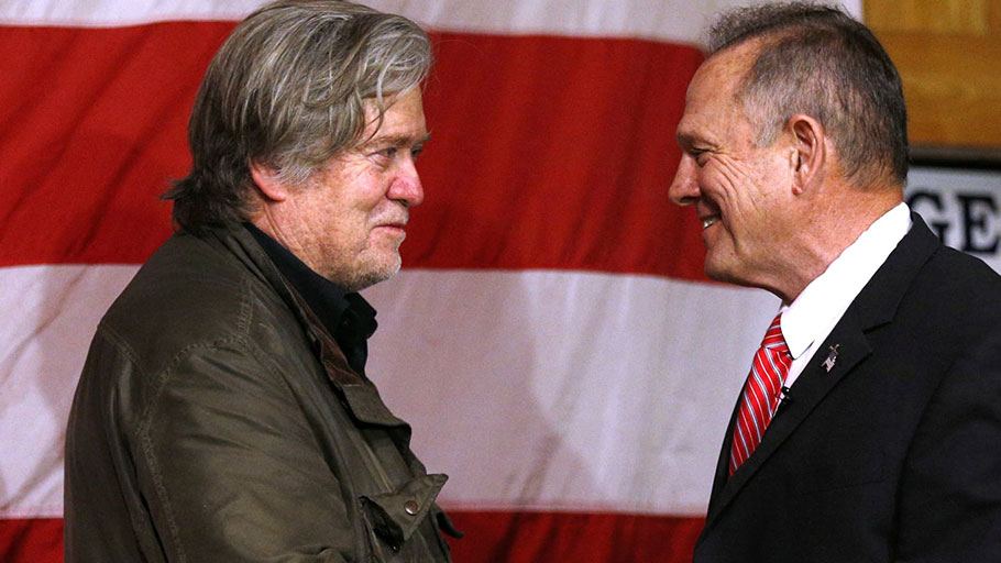Steve Bannon and Roy Moore