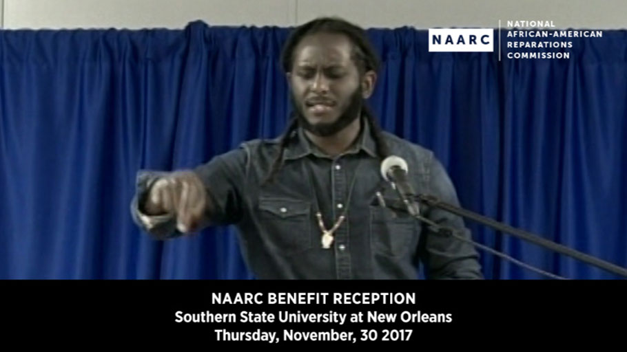 Spoken Word by Michael Quess Moore at NAARC's Benefit Reception, New Orleans