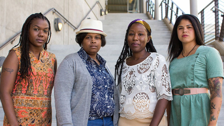 Andrea Unsworth, left, Amber Senter, Tsion Lencho and Nina Parks formed the nonprofit Supernova Women in 2015. Photo: Roxane Pasibe, East Bay Express