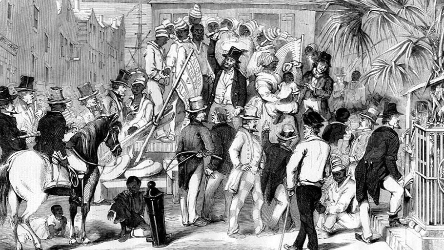 Slave sale, Charleston, South Carolina.