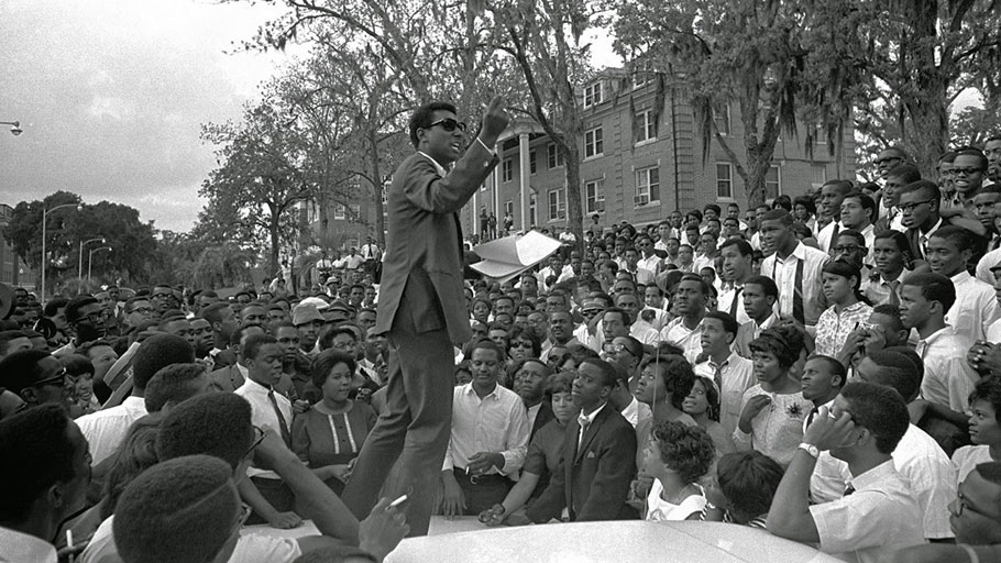 Stokely Carmichael of SNCC at Florida A&M University, 1967