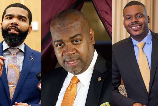 Mayor Chokwe Antar Lumumba of Jackson, Mississippi; Ras Baraka, mayor of Newark, New Jersey; and Mayor Michael D. Tubbs of Stockton, California, have all sought to implement criminal justice reforms in their cities. (AP Photo / Rogelio V. Solis ; Reuters / Eduardo Munoz ; Courtesy of Michael Tubbs)