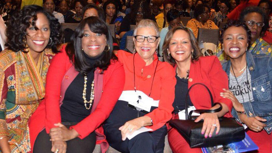 At the recent Power Rising Summit in Atlanta, U.S. Reps. Stacey Plaskett of the Virgin Islands, Terri Sewell of Alabama, Bonnie Watson Coleman of New Jersey, Robin Kelly of Illinois and Yvette Clarke of New York were among the nearly 1,000 Black women who gathered to strategize on how to build their political power.