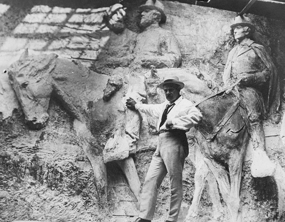 Stone Mountain's first sculptor, Gutzon Borglum.