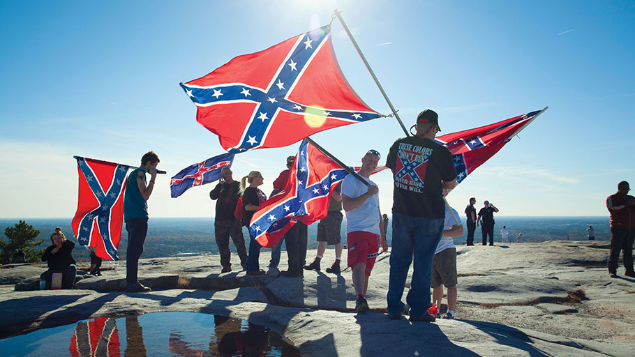 Stone Mountain played host to a November 2015 confederate rally, just two months after Dylann Roof killed nine African Americans at a church in Charleston.