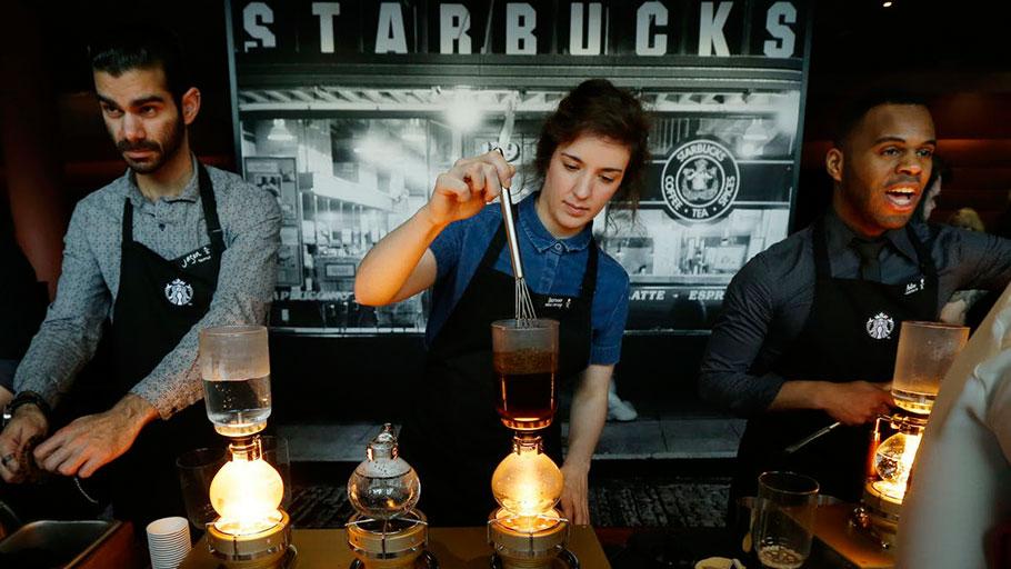 Starbucks workers in Seattle