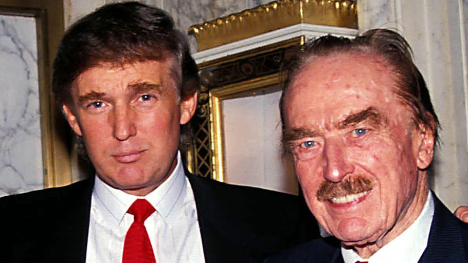 Donald and Fred Trump, in 1992.