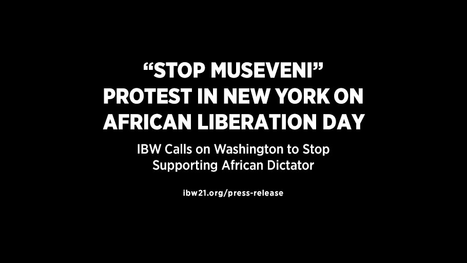 'Stop Museveni' Protest in New York on African Liberation Day