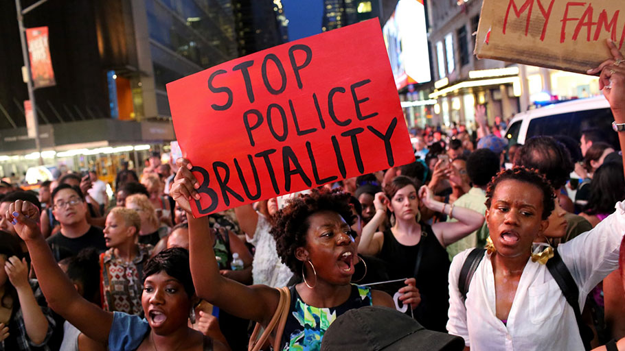 A march in the wake of the deaths of Alton Sterling and Philando Castile at police hands.