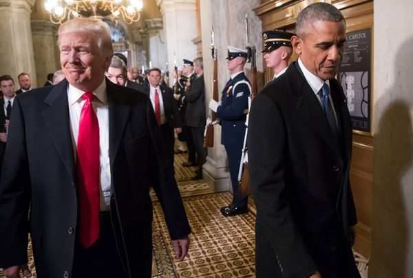 Donald Trump advertised his ambitions to dismantle Barack Obama's achievements throughout the election campaign. Photograph: Pool New/Reuters