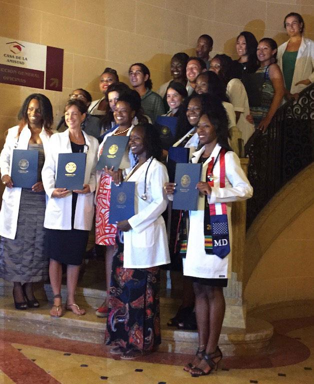 US Student graduates of ELAM's Class of 2015.