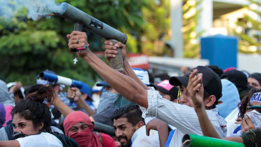 Violent protest against Nicaragua's President Daniel Ortega's government in Managua, Nicaragua May 30, 2018. By Oswaldo Rivas for Reuters.
