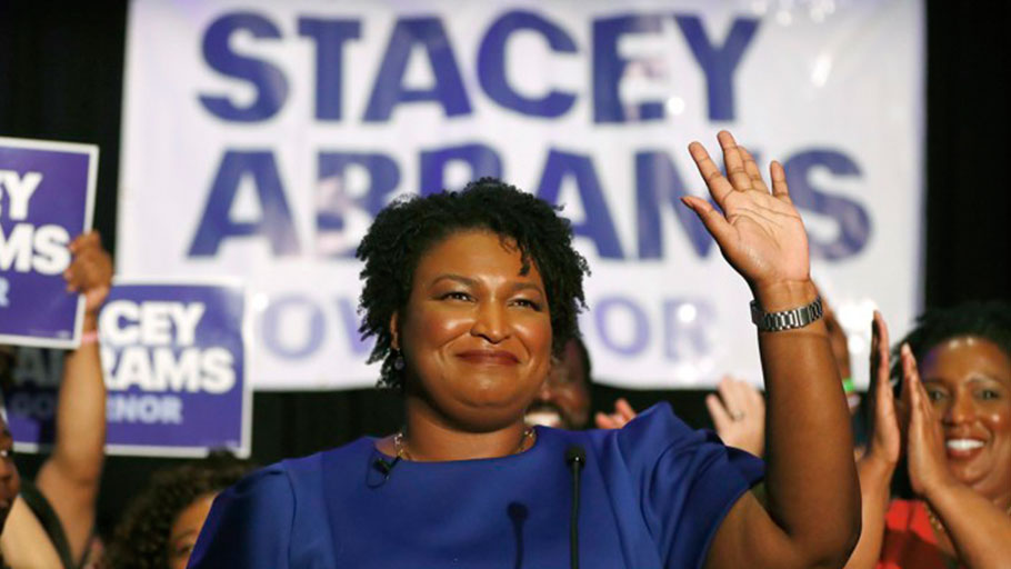The Democrat Stacey Abrams is vying to be the first African American woman governor in U.S. history.