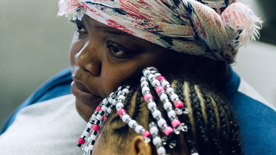 Kiarra Boulware and her niece at Penn North, an addiction-recovery center in Baltimore