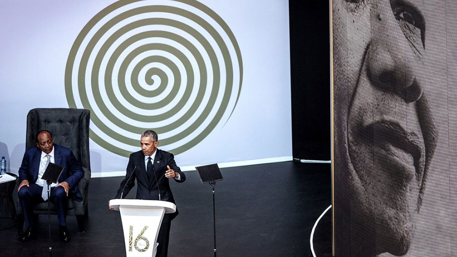 With his Nelson Mandela Lecture, in Johannesburg on Tuesday, Obama offered the sharpest possible contrast between himself and his successor—between statesman and demagogue.