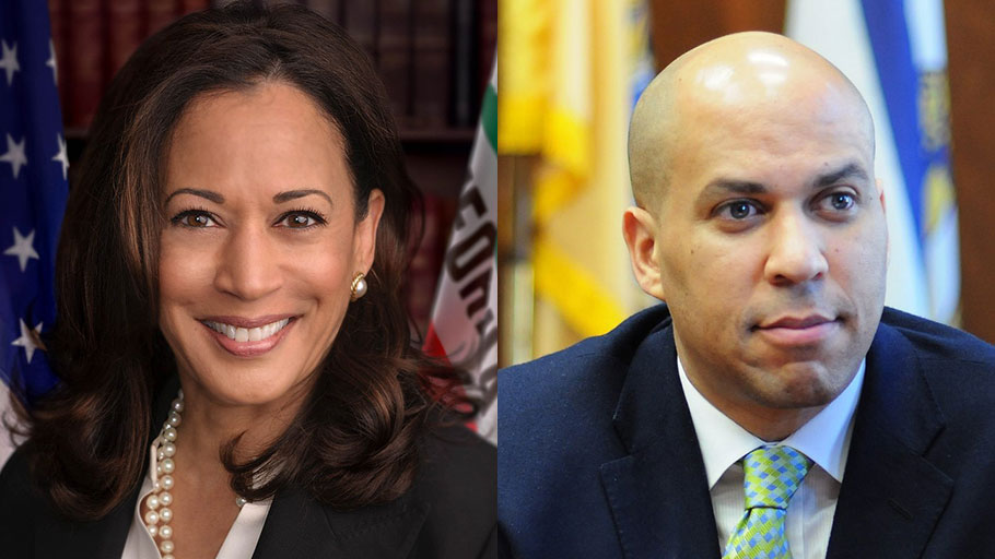 Kamala Harris (Left), Cory Booker (Right)