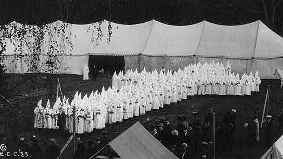 The KKK assembled in Portland, Maine, in 1923. Library of Congress