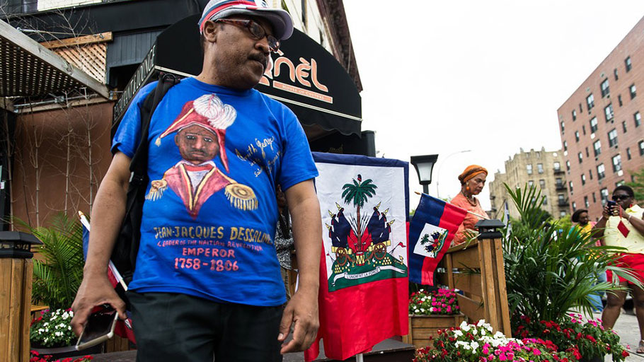 Haitian-Americans and local residents gathered for the celebration that unveiled Jean-Jacques Dessalines Boulevard, in the Flatbush neighborhood of Brooklyn.