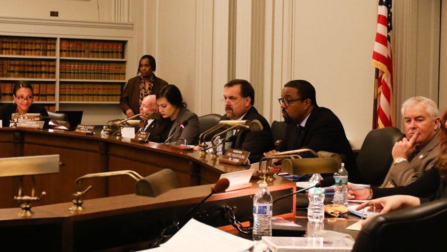 NJCI - The state Assembly Oversight, Reform, and Federal Relations committee receives testimony in regards to cannabis legalization at the Statehouse Annex Committee Room in Trenton on March 05, 2018.