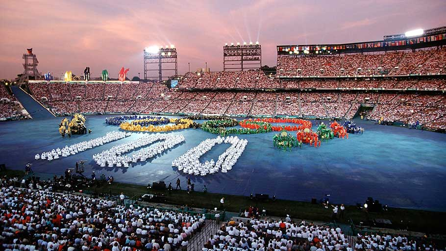 The opening ceremony of the Atlanta Olympic Games in 1996.