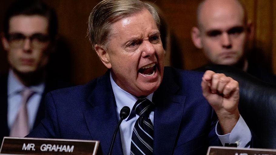 Senator Lindsey Graham berating Democratic colleagues in defense of Judge Brett Kavanaugh, September 27, 2018.