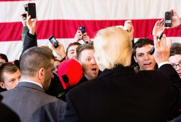 A Trump rally in 2016.