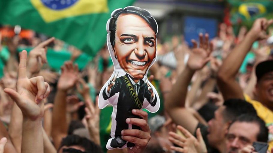 Bolsonaro's supporters at a rally in Såo Paulo.