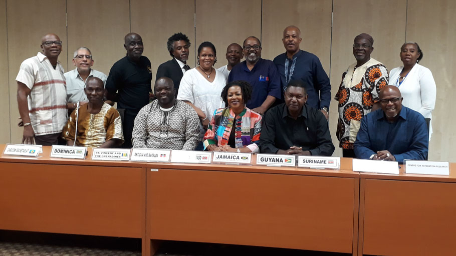 Members of the CARICOM Reparations Commission (CRC) representing national reparations committees and councils from across the region met recently at the Regional HQ of the University of the West Indies (UWI) in Jamaica for a two-day retreat to review the Commission's work over the past two years and to map out an agenda for 2019.