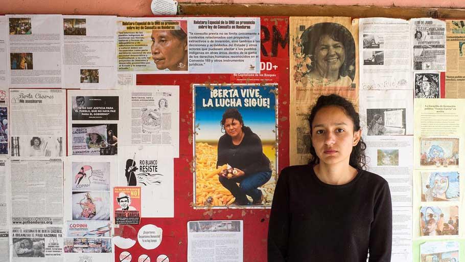 Bertha Isabel Zuñiga in her office.