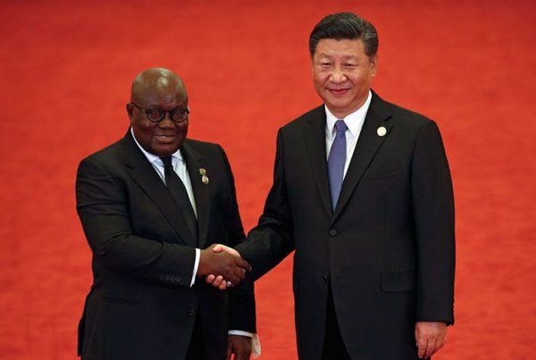 Ghana's President Nana Akufo-Addo and China's President Xi Jinping at the 2018 summit in Beijing.