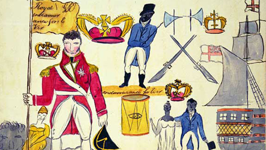 Sketch of a flag used by the rebel slaves