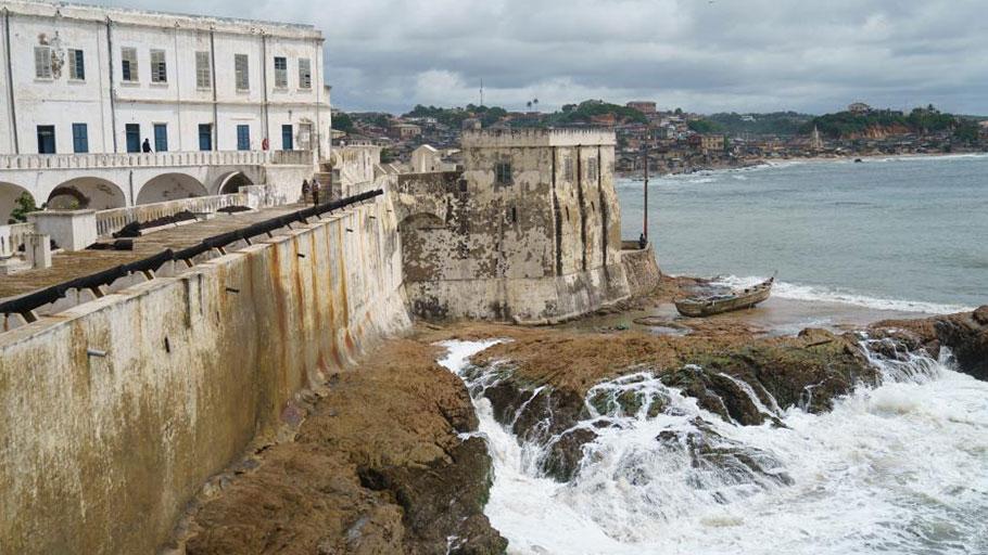 Cape Coast Castle on the Gulf of Guinea in Cape Coast, Ghana,