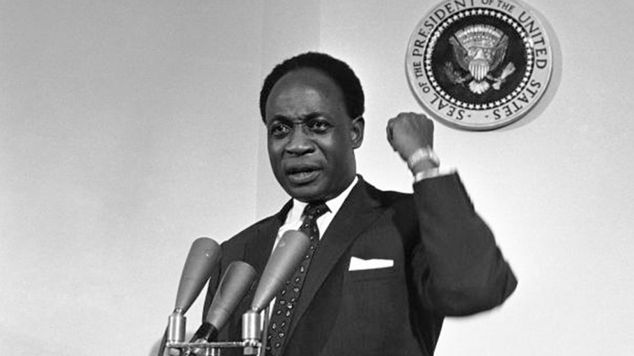 President Kwame Nkrumah speaking at the White House on Mar. 8, 1961