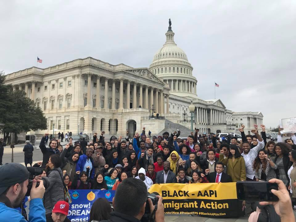 """My liberation is bound to yours."" In December 2017, the UndocuBlack Network made history with its Black AAPI Action Day as black and Asian American-Pacific Islander immigrants stood in solidarity in Washington, D.C."