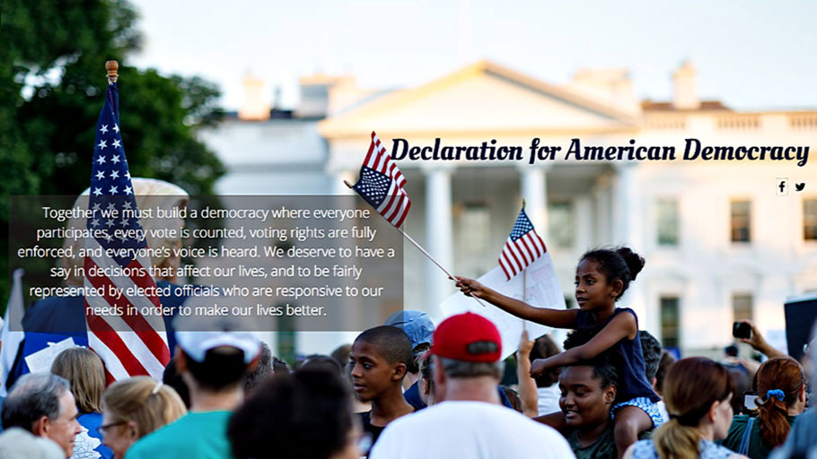 The Declaration for American Democracy, a coalition of 100+ national groups committed to fundemental reforms in the U.S. political system, will officially launch its campaign the day after this year's upcoming midterm elections.
