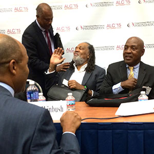 Sir Hilary Beckles, Dr. Raymond Winbush and Prof. Charles Ogletree
