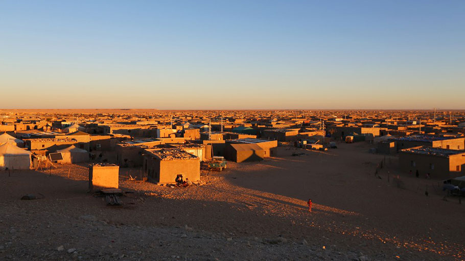 The Smara camp in Tindouf, the largest of the Sahrawi camps. The U.N. estimates that some fifty thousand refugees live there.