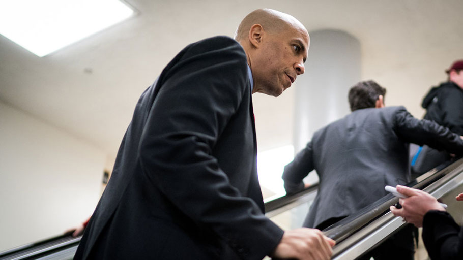 Senator Cory Booker of New Jersey is one of multiple potential black and Latino presidential candidates.