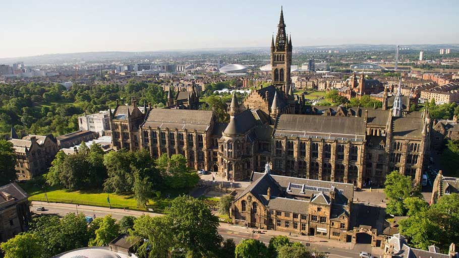 'A reparative justice programme' … Glasgow University has completed a two-year review of how it grew wealthy from the slave trade. Photograph: University of Glasgow